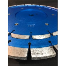 Chamfering diamond blade combined with saw blade